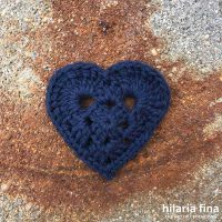 Crochet heart Rebeca pattern