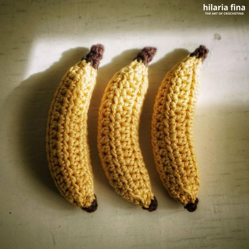 Amigurumi banana nano crochet