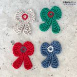 Bow Bob patch crochet applique