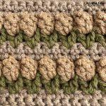 Punto de crochet tulipán