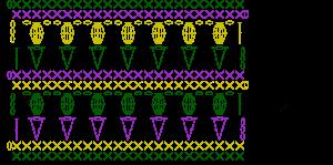 Crochet tulip stitch chart