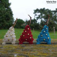 Patrón de ganchillo árbol de Navidad