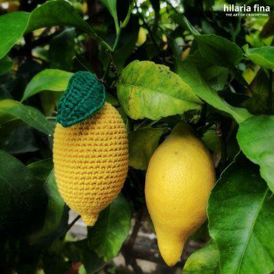 Amigurumi crochet lemon