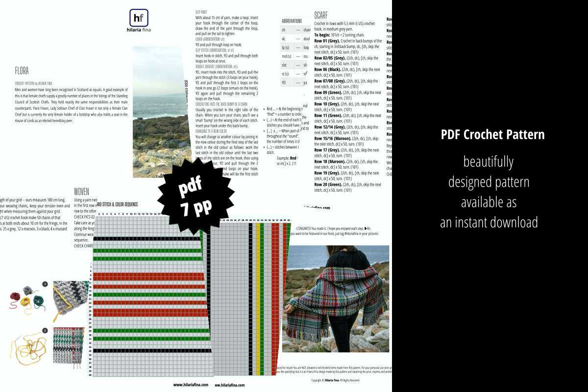 Flora Crochet Pattern PDF