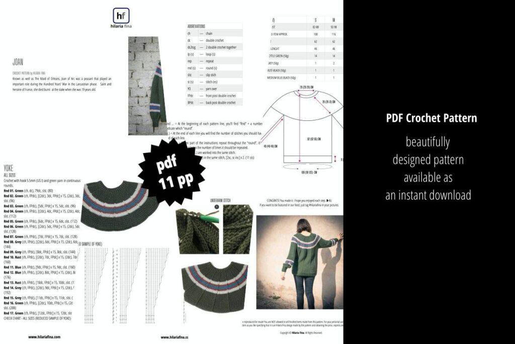 Joan Crochet Pattern PDF