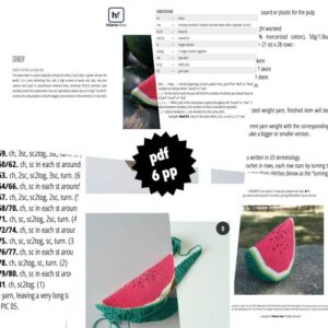 Watermelon Crochet Pattern PDF