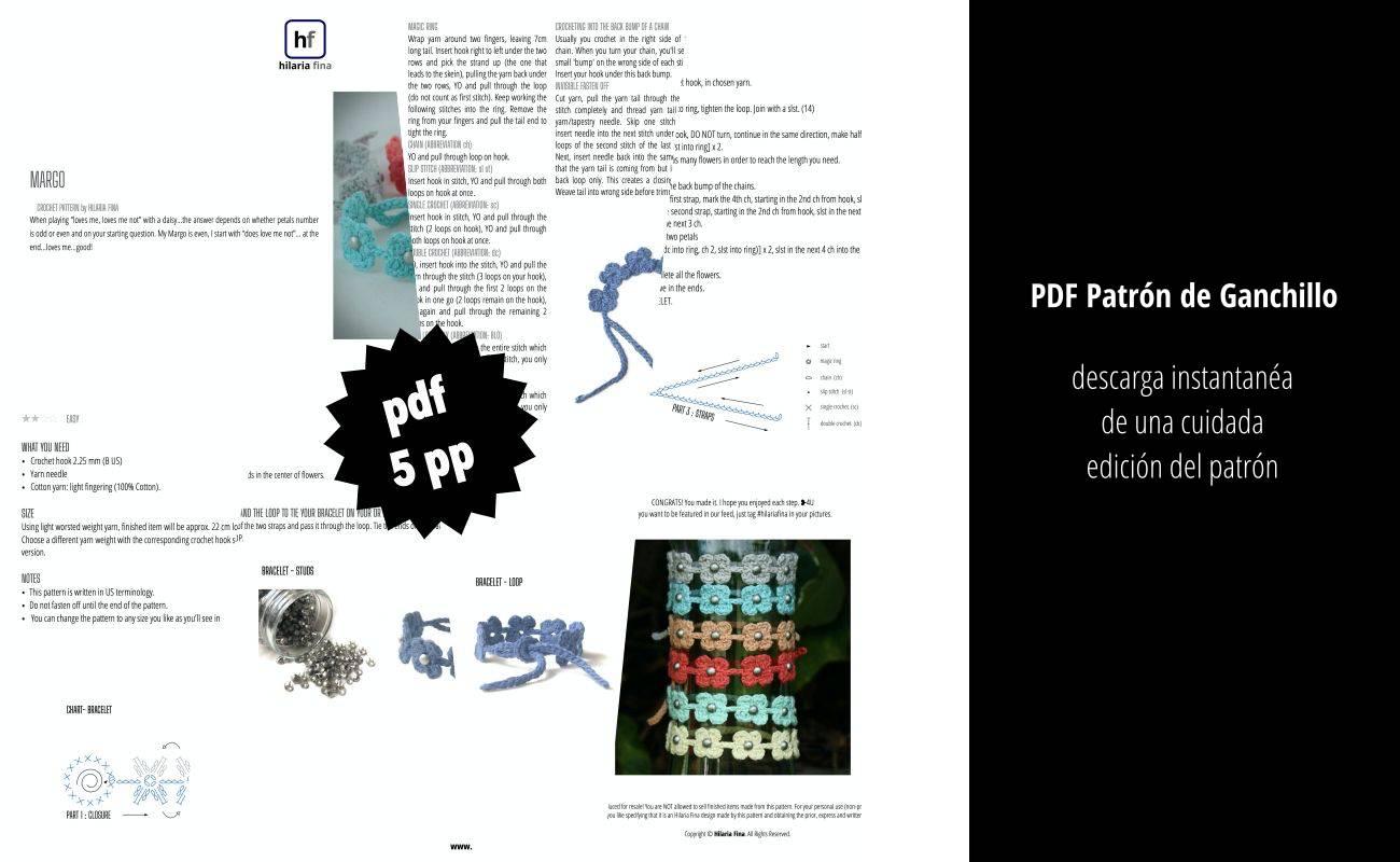 Margo Patrón de ganchillo PDF