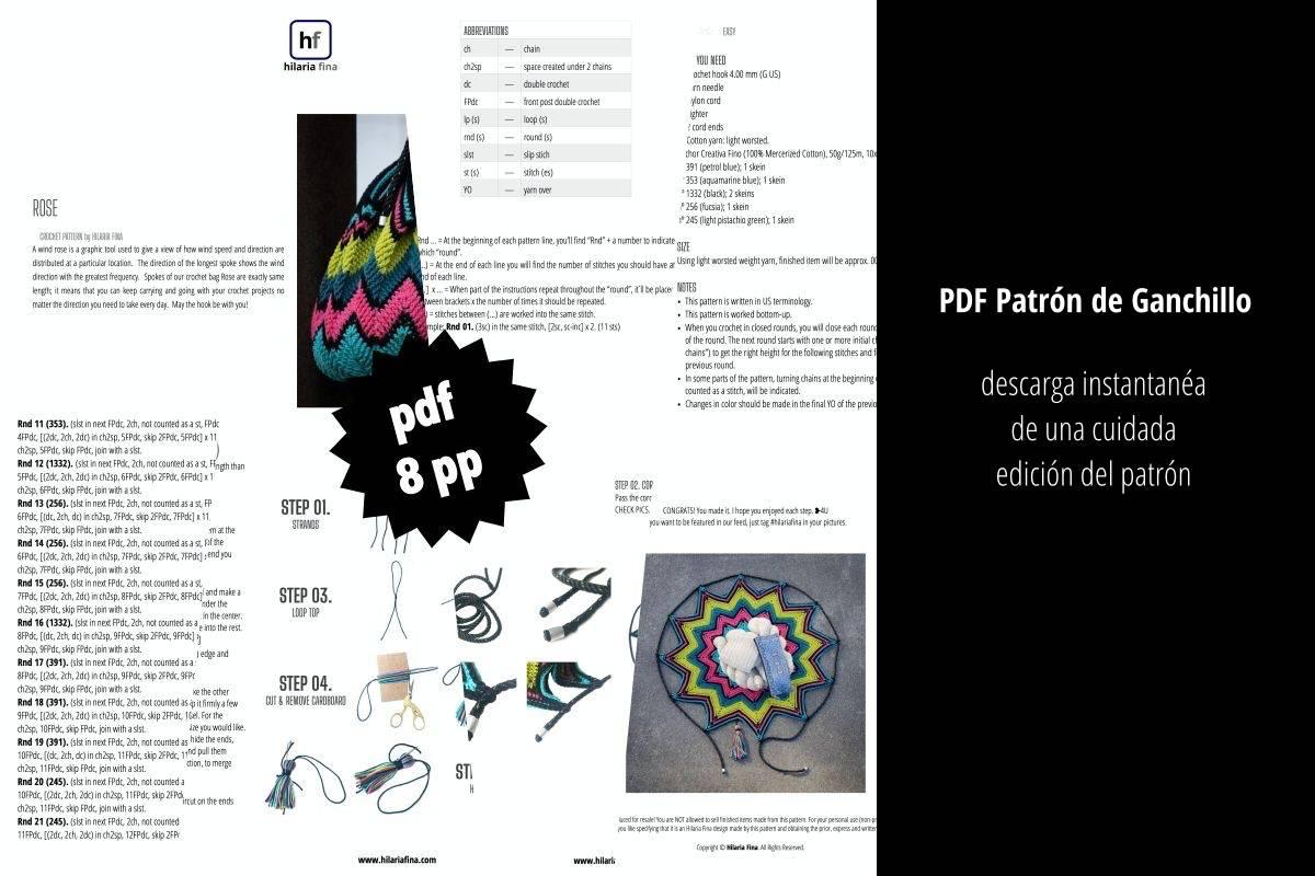 Rose Patrón de Ganchillo PDF