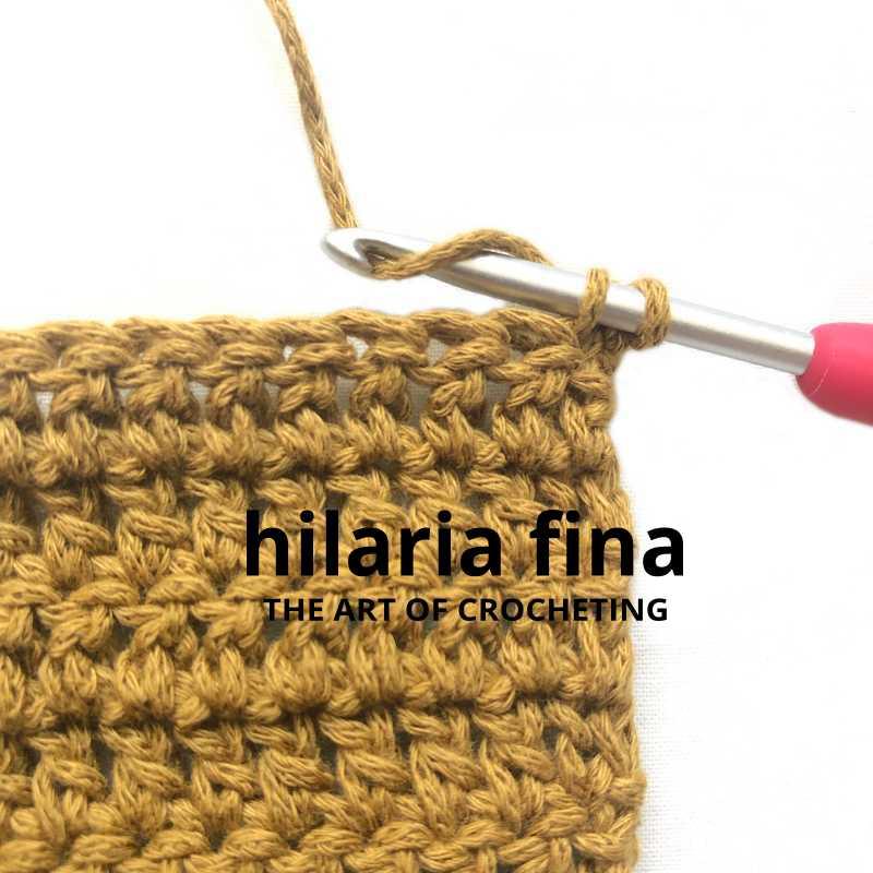 Stacked Single Crochet Stitch 3